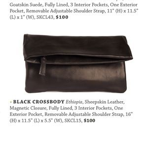 Sseko Black Crossbody Bag